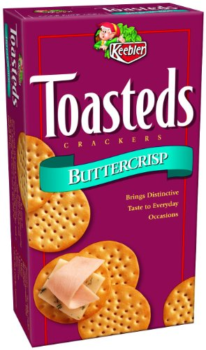 Toasteds Crackers, Buttercrisp, 8-Ounce Boxes