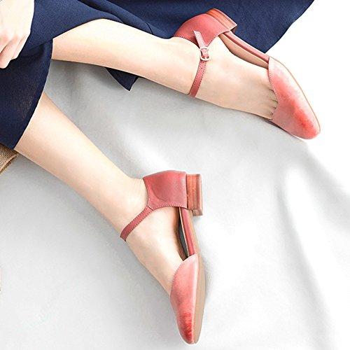 uk3 De Fondo Lenguado Zapatos Individuales Plano Caucho Verano Sandalias 5 Eu36 Mujeres Tamaño Temporada Qidi wFIOqO