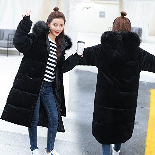 Xuanku Winter Coats Women 'S Cotton Long Sleeve Wind Coats Loose Bunches Coats Black