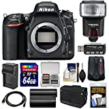 Nikon D750 Digital SLR Camera Body with 64GB Card + Battery & Charger + Messenger Bag + GPS Adapter + Flash + Kit Review