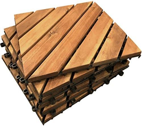 /Terrasse balcon /Le c/él/èbre Click-deck dalles de terrasse en bois dur/ du pont de jacuzzi carrelage Sol terrasse en bois terrasse de toit 6/X diagonale carrelage/