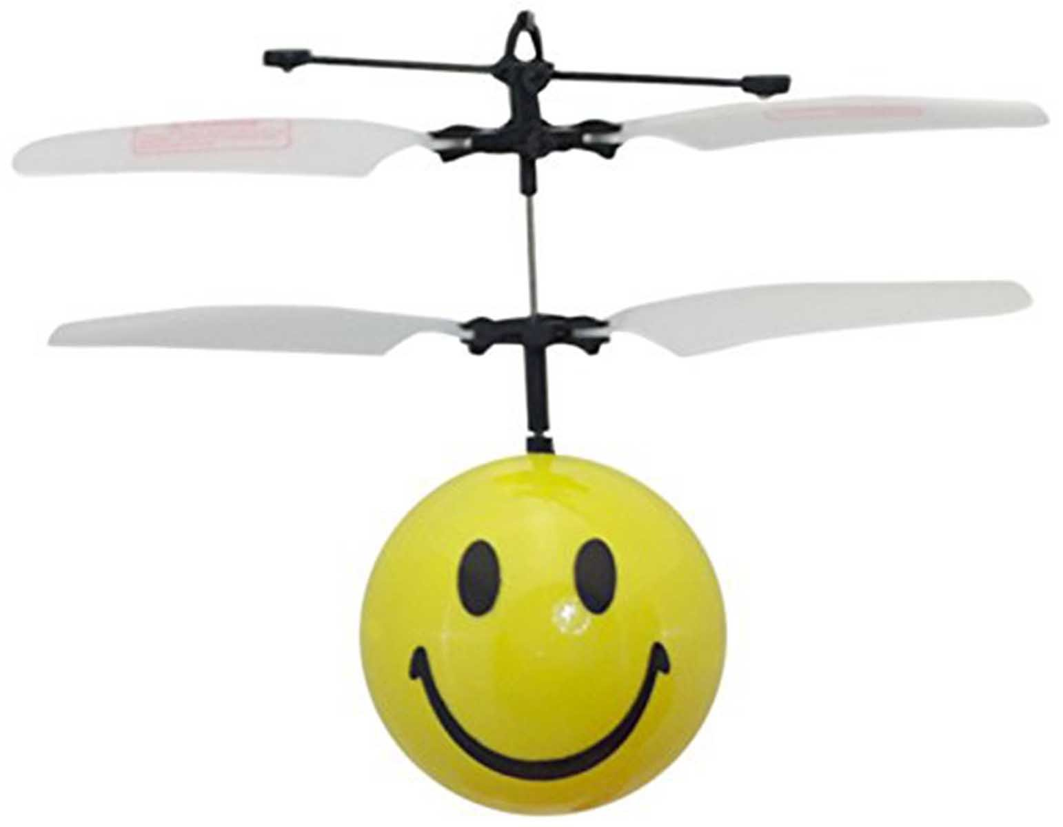 MukikiM Mini Flyer - Smiley / Watch it hover, float and fly like magic. Bring a smile to your face as you have fun flying. (Newest version featuring USB charging!)
