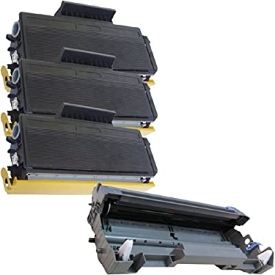 (1 Drum + 3 Toner) Inktoneram® Replacement toner cartridges & drum for Brother TN580 TN550 DR520 Toner Cartridges & Drum replacement for Brother DR-520 TN-580 TN-550 Set HL-5240 HL-5250 HL-5250DN HL-5250DNT HL-5280 HL-5280DW MFC-8460N MFC-8660DN MFC-8670D