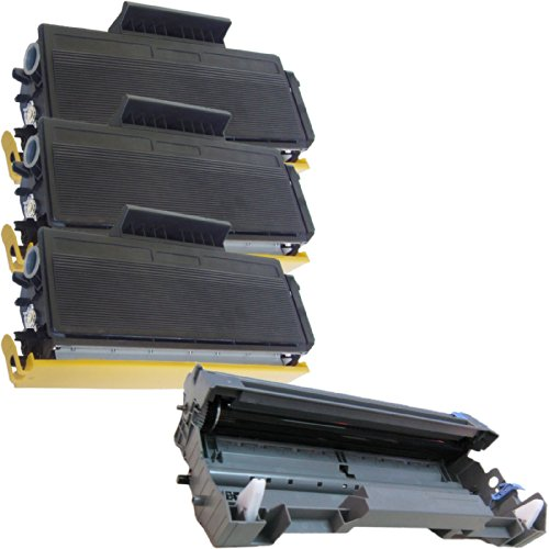 (1 Drum + 3 Toner) Inktoneram® Replacement toner cartridges & drum for Brother TN580 TN550 DR520 Toner Cartridges & Drum replacement for Brother DR-520 TN-580 TN-550 Set HL-5240 HL-5250 HL-5250DN HL-5250DNT HL-5280 HL-5280DW MFC-8460N MFC-8660DN MFC-8670