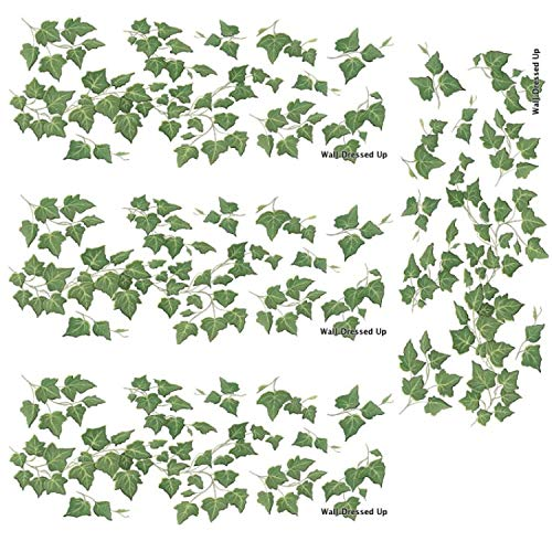 (English Ivy Vine Rub on Transfer Mural Wall Tattoo 4 Sheets of Ivy)