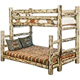 Montana Woodworks Collection Full Bunk Bed, Twin, Clear Lacquer