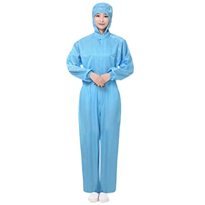 HebeTop Unisex Disposable Protective Overalls Suit Splashproof Protective Isolation Clothing Suit: Clothing