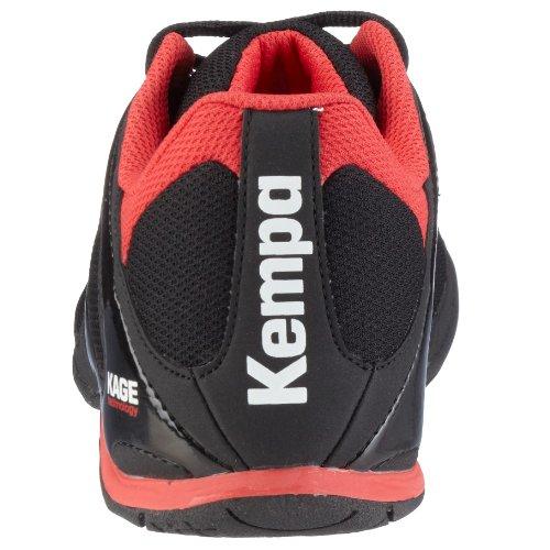 Kempa Stride 200839501, Unisex - Kinder Sportschuhe - Handball Schwarz (Schwarz/Rot01)