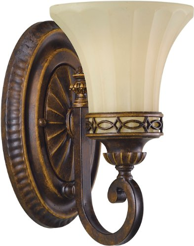 Walnut One Light Bath Fixture - 1