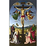 Oil painting 'Raphael The Mond Crucifixion ' printing on high quality polyster Canvas , 24 x 40 inch / 61 x 101 cm ,the best Bar decor and Home artwork and Gifts is this High quality Art Decorative Prints on Canvas