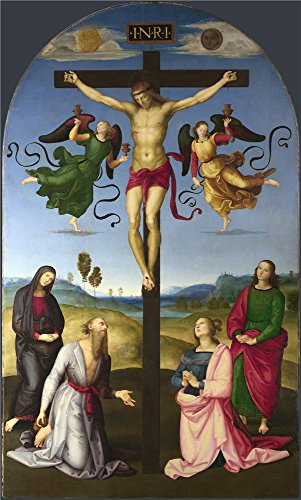 Literary Themed Halloween Costumes (Oil Painting 'Raphael The Mond Crucifixion ' Printing On Polyster Canvas , 12 X 20 Inch / 30 X 51 Cm ,the Best Home Theater Decor And Home Artwork And Gifts Is This Replica Art DecorativePrints On Canvas)