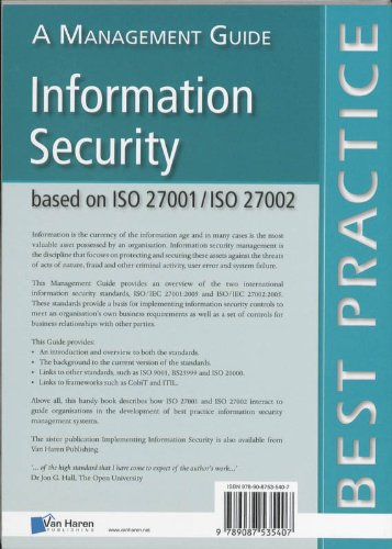 information security based on iso 27001 iso 27002 a management rh amazon co uk ISO IEC 12207 ISO IEC 27001 Annex A