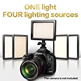 Nanguang LED Video Lighting Dimmable Bi-color Ultra Soft 4-in-1 On Camera Video Light,LED Light for Canon,Nikon,SONY,Pentax,Panasonic,Samsung and Olympus Digital SLR Cameras.
