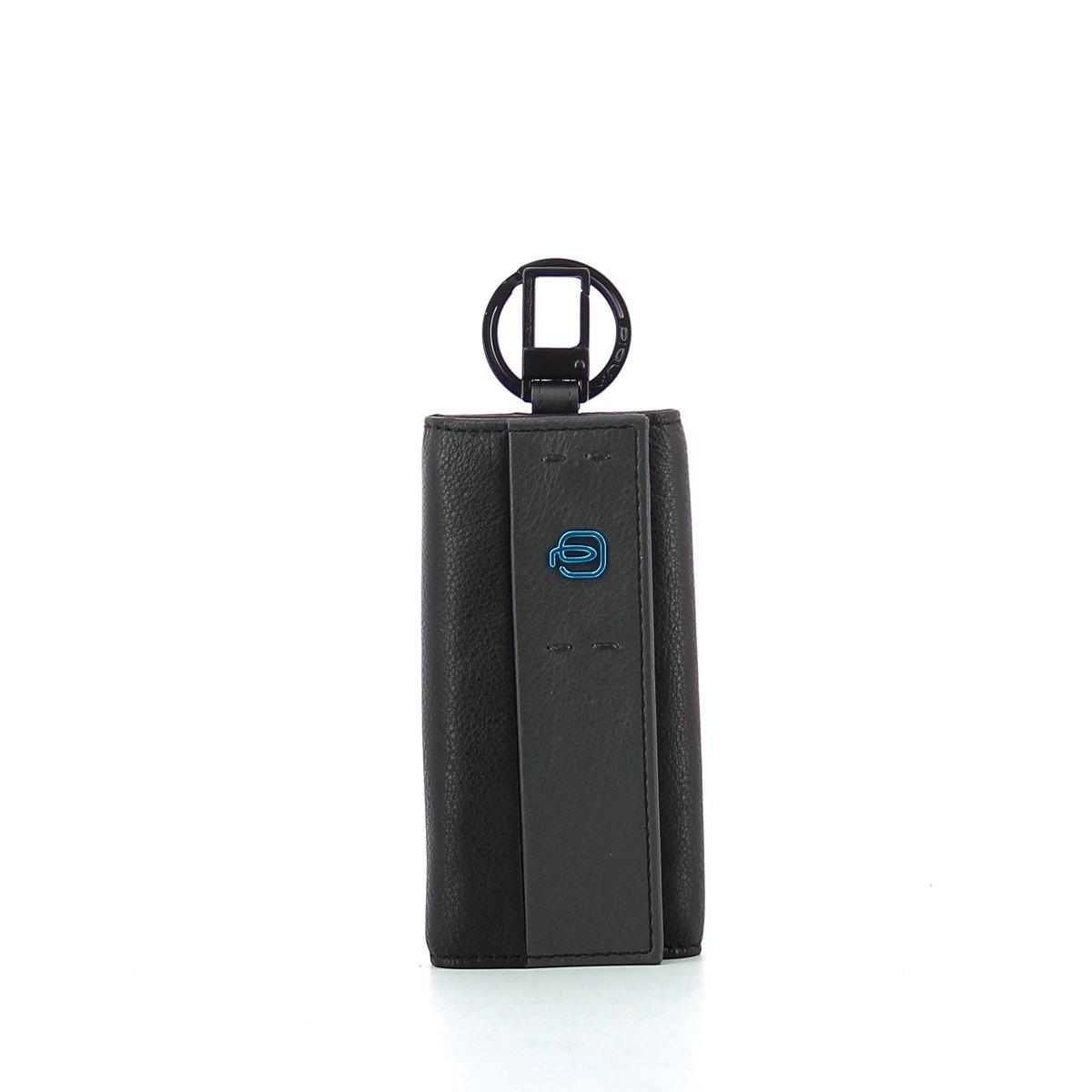 Piquadro Portachiavi Collezione Pulse, Pelle, Blu Notte, 12 cm PC1397P15/BLU3