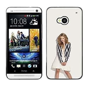 Caucho caso de Shell duro de la cubierta de accesorios de protección BY RAYDREAMMM - HTC One M7 - Sexy Rubia