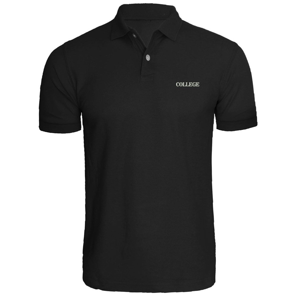 Mens College Funny Animal House University Embroidered Polo Shirts