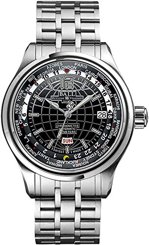 Ball Men's GM1020D-S1CAJ-B Trainmaster Analog Display Swiss Automatic Silver Watch