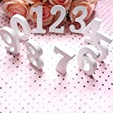 Zhengpin White Wooden Number 0-9 DIY Free Standing Numbers DIY Words for Wedding Birthday Party Home Decorations