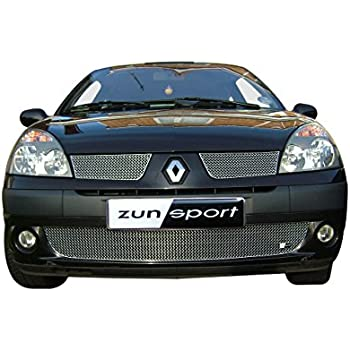 Zunsport Compatible Renault Clio - Full Grille Set - Silver Finish (2004-2005 Dynamique)