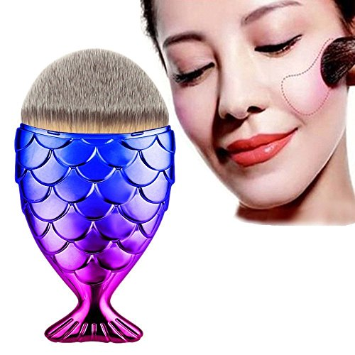 Copter Shop Makeup Brushes ColorWomen Fantasy Pink Blue Mermaid Fish Makeup Brush Beauty Powder Foundation Contour - Queens Mall Hours Store