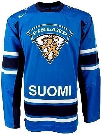 Nike Finlandia Hockey sobre Hielo Camiseta Selección 350630 – 415, NHL, Todo el año, Original, Color Azul - Azul, tamaño M: Amazon.es: Deportes y aire libre