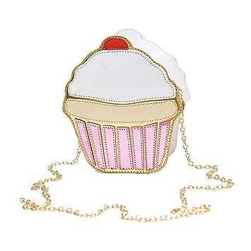 33caf24691 Dire-wolves Filles en Cuir PU Cupcake/Crème glacée/Sac à bandoulière  personnalité. Passez la souris sur ...