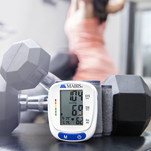 Blood Pressure Monitor Wrist Portable Wireless Gauge Kit for Pulse, Irregular Heartbeat, High Blood Pressure