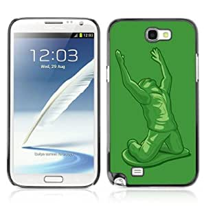CQ Tech Phone Accessory: Carcasa Trasera Rigida Aluminio Para Samsung Galaxy Note 2 N7100 - Funny Tin Soldier