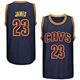 Mens LeBron James #23 Cleveland Cavaliers Navy Blue Jersey M
