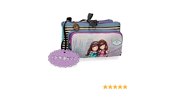 Neceser Pequeño Gorjuss Tres Compartimentos Friends Walk Together, Morado, 20.5x10.5x8.5 cm: Amazon.es: Equipaje