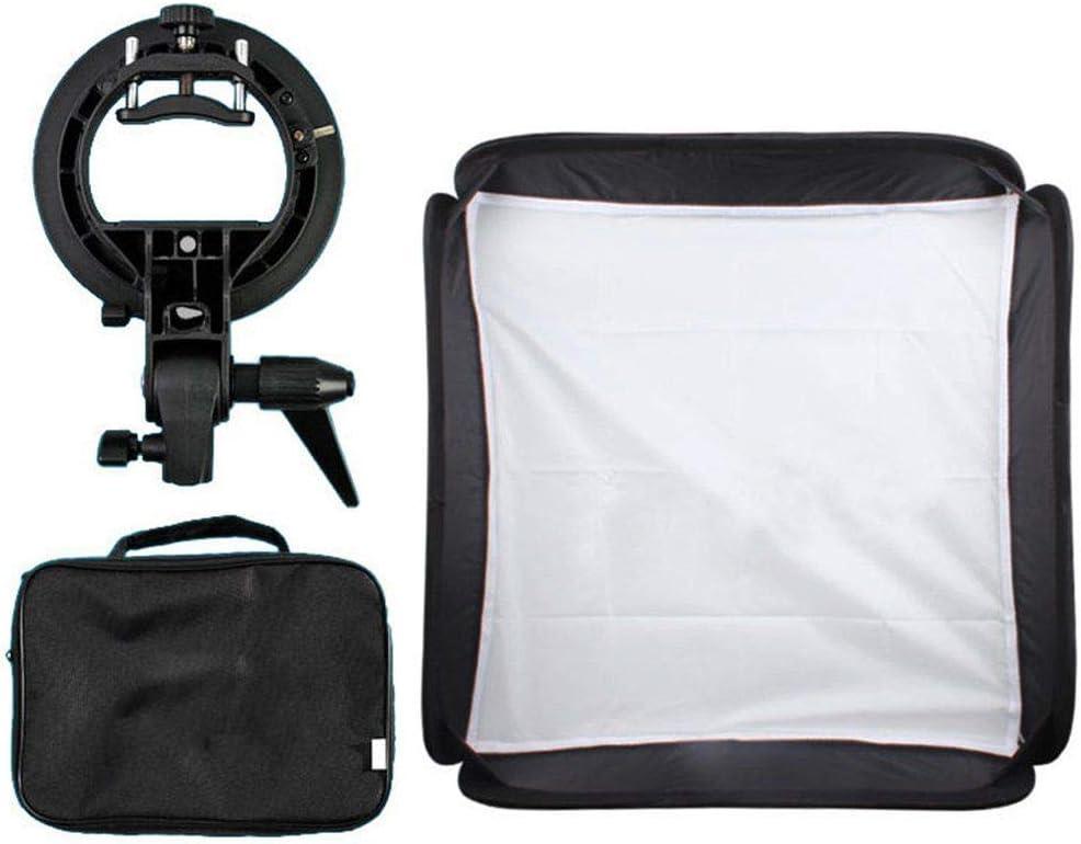MDFGHJD 40X40cm Softbox Bag Kit for Camera Flash S-Type Bracket Bowens