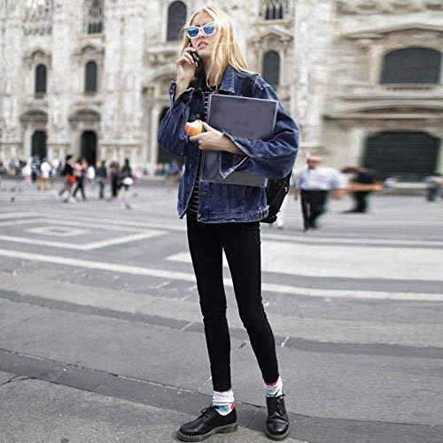 Oversized Vento Di Bomber Jeans Donna Cardigan A Casual Cappotto Giacche Longra xl Sweatshirts Vintage Corta Da Giacca 5xl In Blu Denim 8qx18YZnF