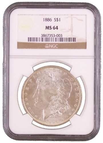 1886 P Morgan Dollar NGC MS-64