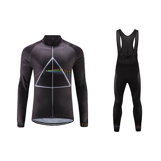 Bib Tights Men/'s Urban Cycling Team Thermal Winter Fleece Jersey and Winter Cycling Set Bundle Long Sleeve