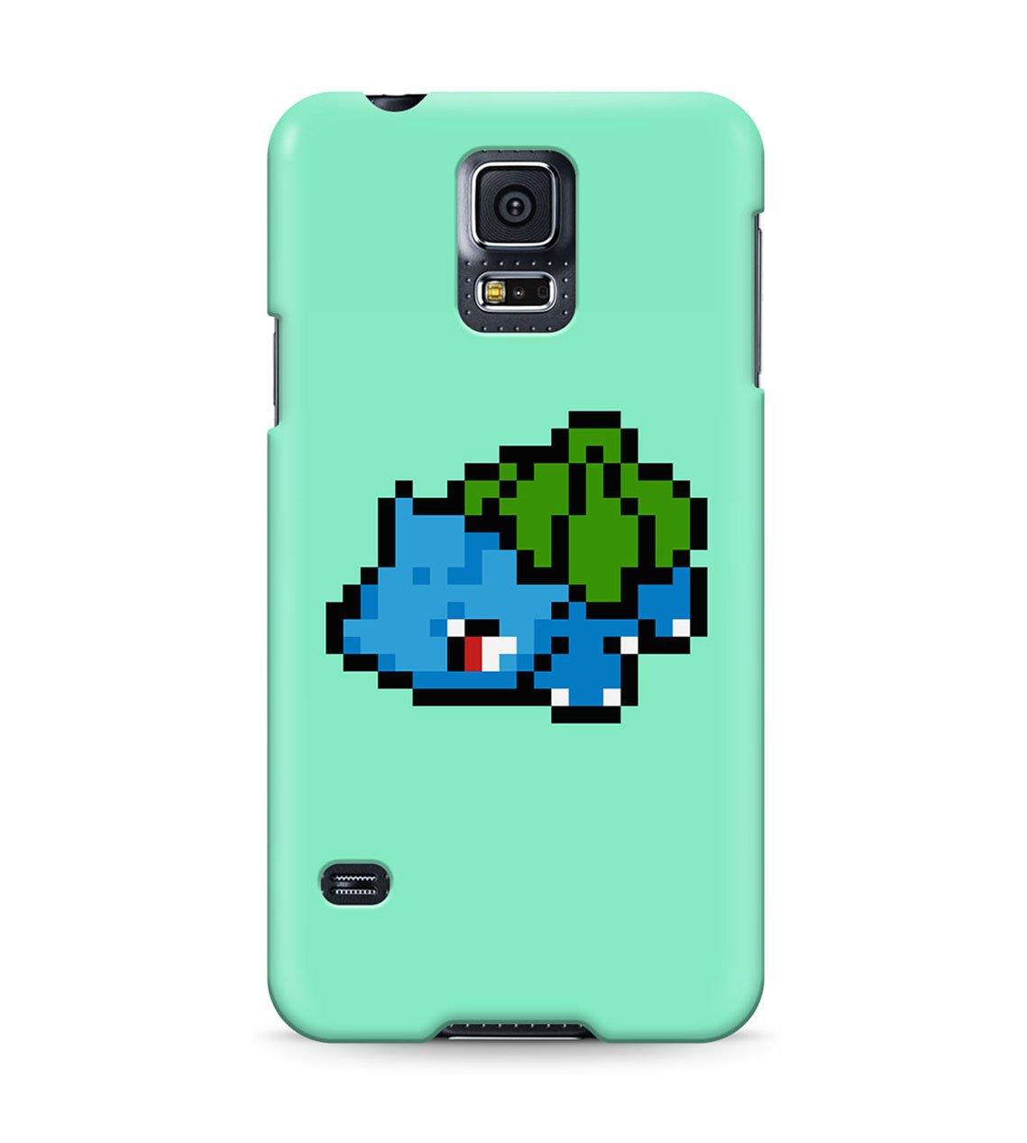 5cb9bc2e6 8 Bit Pokemon Pixel Bulbasaur Ivysaur Venusaur Hard Plastic Snap On Back Case  Cover For Samsung Galaxy S5: Amazon.co.uk: Electronics