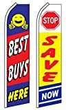 Car Auto Dealer Swooper Flutter Feather Flags 2 pack-Best Buys-Stop Save
