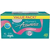 Assurance Incontinence Underwear for Women (Maximum, XL, 48 Ct, Pack of 1)