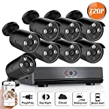 SW SWINWAY 8CH 1080N AHD Security CCTV System,720P AHD DVR + 8 Packs Weatherproof Long Night Vision 1800TVL Security Cameras System,Playback,Rmote Access,Alarm(No Hard Disk Included) Review