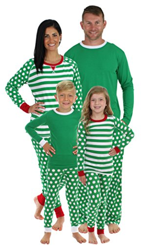 Sleepyheads Green Dot Family Matching Pajama Set-Men's (SHM-4039-M-MED)
