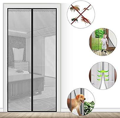 BWBW Puerta de Pantalla magnética, Resistente, Marco Completo de Velcro y Malla rígida, tamaño de Pantalla de 38 x 82 Pulgadas, se Adapta a Puertas de hasta 36 x 81 Pulgadas (Gris): Amazon.es: Hogar