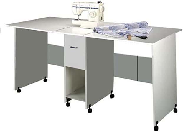 Craft Table With Drawer White Furniture Decor