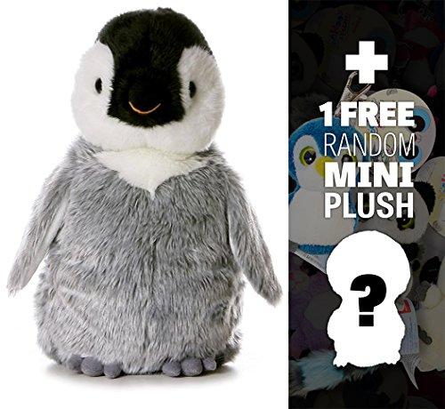 """Penny Penguin: ~12"""" Aurora World Flopsie Plush Series + 1 FREE Aurora Mini-Plush Charm Bundle [040816]"""