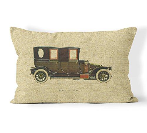 Vintage Car Cotton Linen Decorative Pillowcase Throw Pillow Cushion Cover For Oblong Lumbar Pillow 16 x 20 Inches (40x50cm) #3 By Miller00