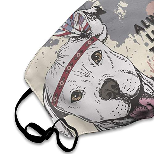 Pitbull Dog Anti Dust Mask Face Mouth Cover Reusable Washable Masks