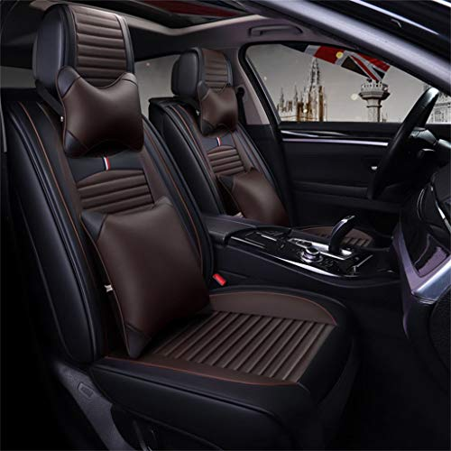 LLYQCZD Car Seat Cushion Four Seasons Universal 5 Seats Universal Comfortable Car Interior Products Brown: Garden & Outdoors
