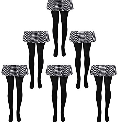 (6-pack Women Soft Stretch Semi-Opaque Tights Sheer Comfort Spandex Pantyhose 70 Den 700-2S-6BLACK)