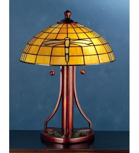 Meyda Tiffany Dragonfly Tiffany Shade - Meyda Tiffany Arts And Crafts Dragonfly 21.75'' H Table Lamp with Empire Shade