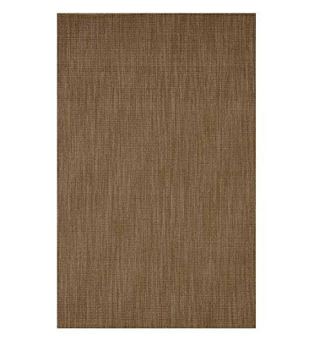 Wool Blend Dalton Rectangular Rug Low Profile Fire Resistant for Fireplace and Home 24 x 42 Mocha by Plow & Hearth