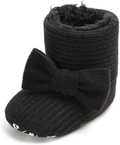 Yicornchen Baby Boys Girls Fleece Fur Knit Winter Warm Snow Boots Soft Sole Prewalker Crib Shoes Booties for Newborn Infant Toddler