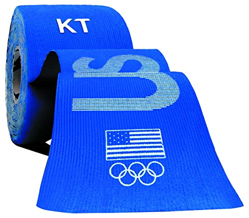Kids Olympic Blue Apparel (KT TAPE PRO Synthetic Elastic Kinesiology 20 Pre-Cut 10-Inch Strips, Therapeutic Tape, PRO USA)